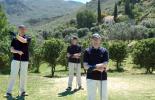 Mann am Golf-Abschlag