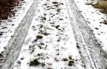 verharschter Schnee, halb weggetaut