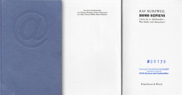 Umschlag und Titelseite des Buches Homo Sapiens