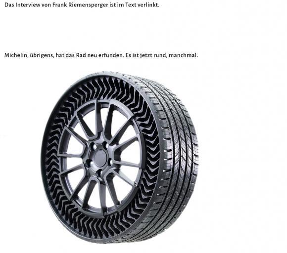 """der """"revolutionäre Reifen von Michelin"""