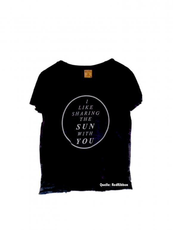 T-Shirt mit Aufdruck: I like sharing the sun with you
