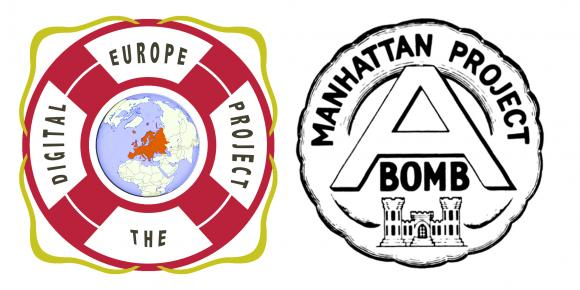 Logos The Digital Europe Project versus Manhattan Project