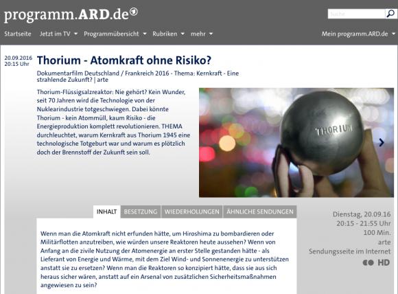 ARD-Film Ankündigung