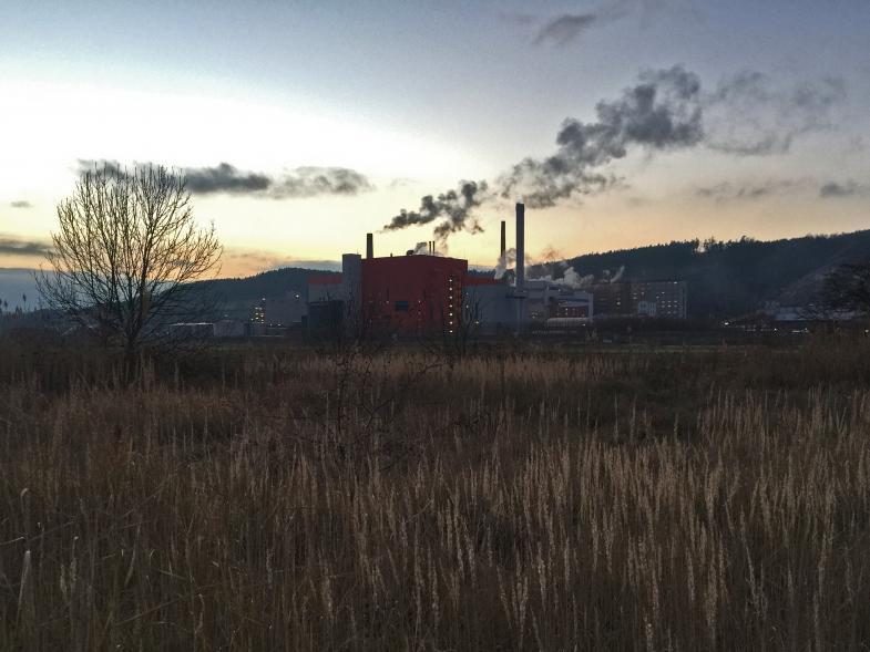 Das Heizkraftwerk in Heringen