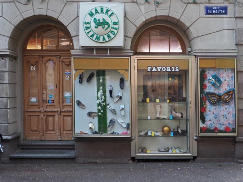 Ein Schuhgeschäft in Frankreich