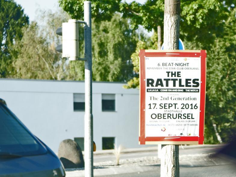 Das Bild zeigt ein Plakat der Rattles mit dem Zusatztext: the 2nd Generation