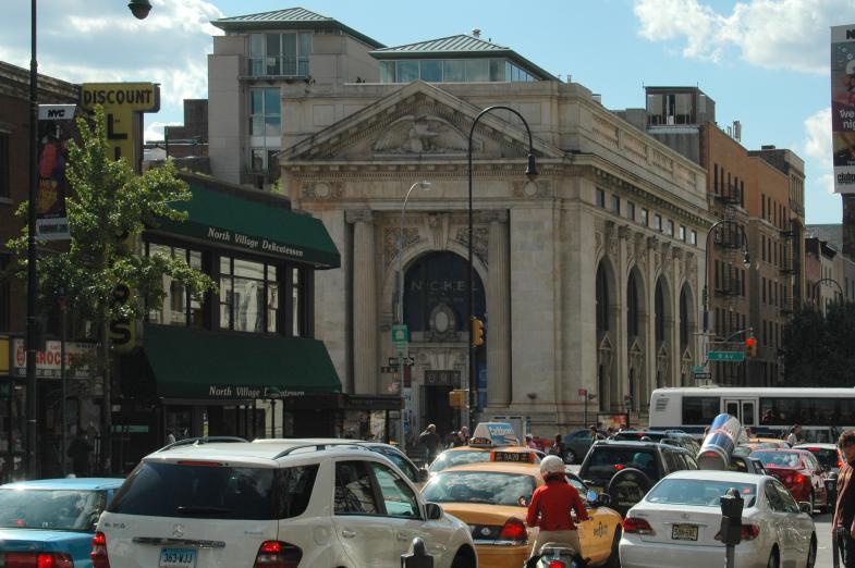 Ein altes Bankgebäude in NYC