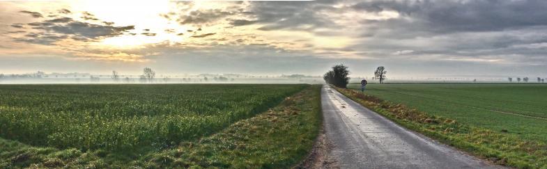 Ein Landschaftspanorama in Niedersachsen