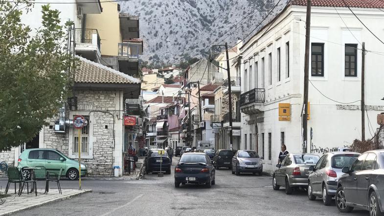 Strassenbild in Astakos