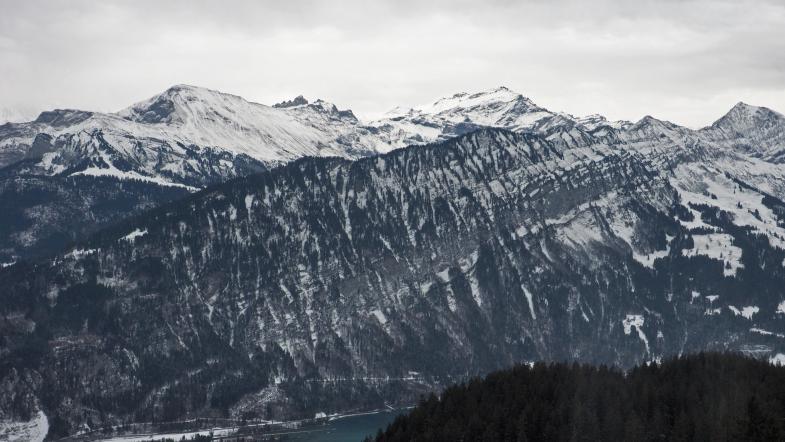 Panorama mit Eiger, Mönch, Jungfrau