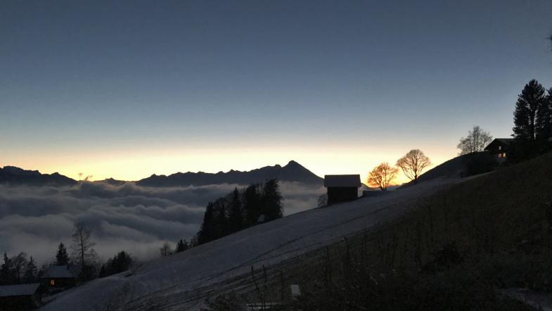 Bilderbuch-Sonnenuntergang