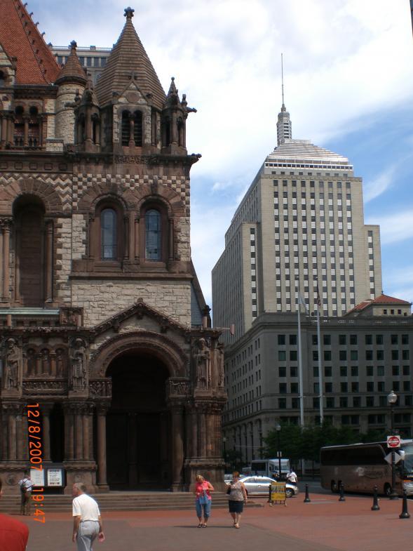 Zwei Gebäude in Boston