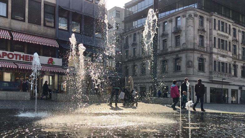 Wasserspiele am Rathenauplatz