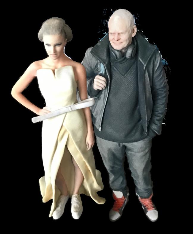 Zwei Figuren (3D-Printing)