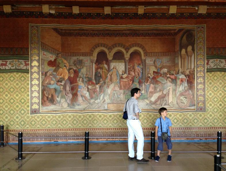 Wandteppich vom Sängerkrieg auf der Wartburg