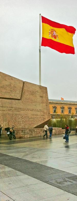 Bild einer wahrhaft riesigen spanischen Fahne