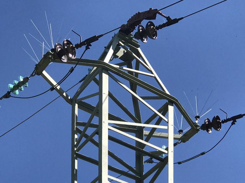 Strommast von unten