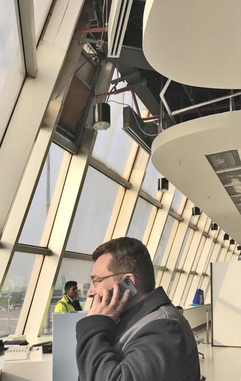 Szene am Flughafen