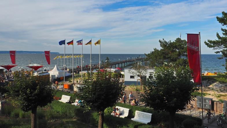 Fahnen am Strand