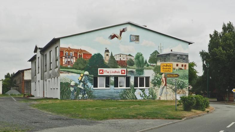 Wandbelmalung der Freiwilligen Feuerwehr Linzholz