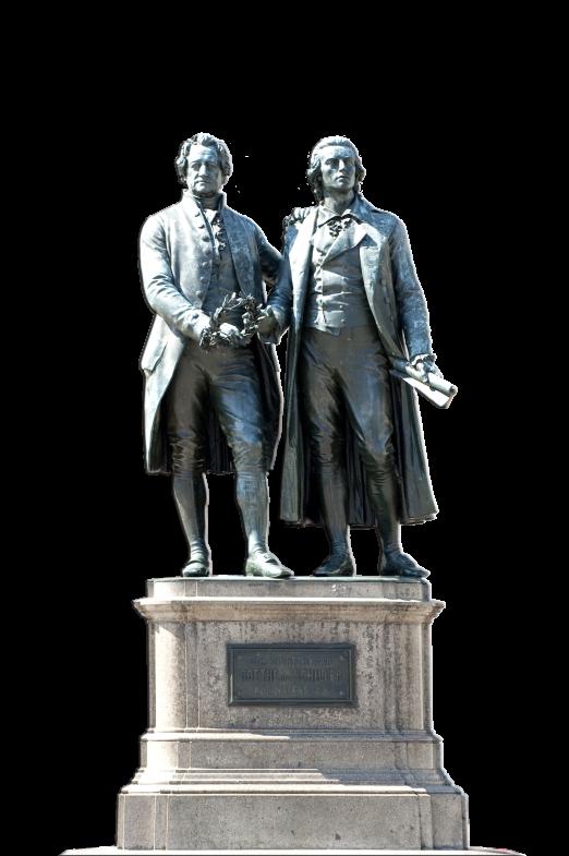Goethe und Schiller in Weimar - freigestellt
