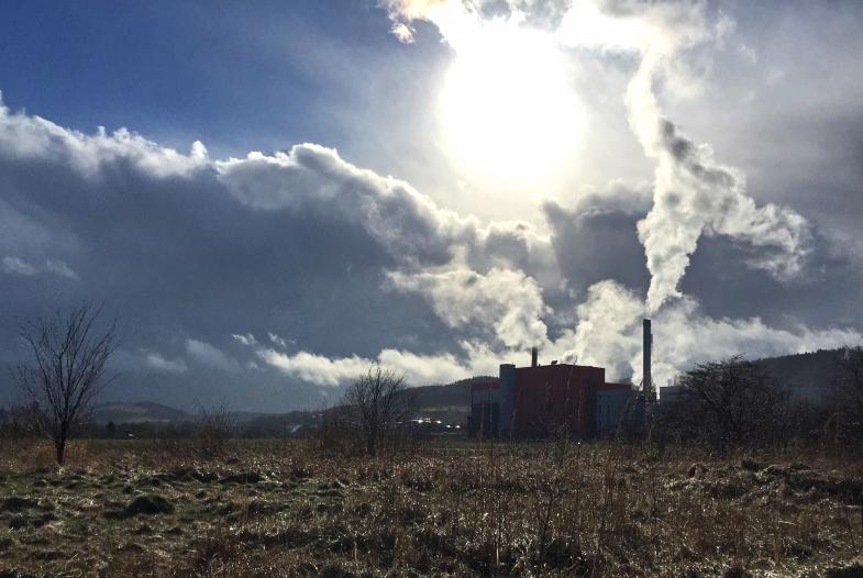 Blockheizkraftwerk Heringen - nach einem Graupelschauer-1