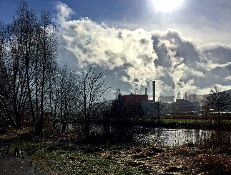 Blockheizkraftwerk Heringen - nach einem Graupelschauer-2