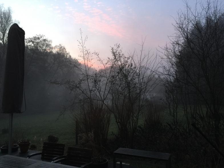 pastoser Morgenhimmel