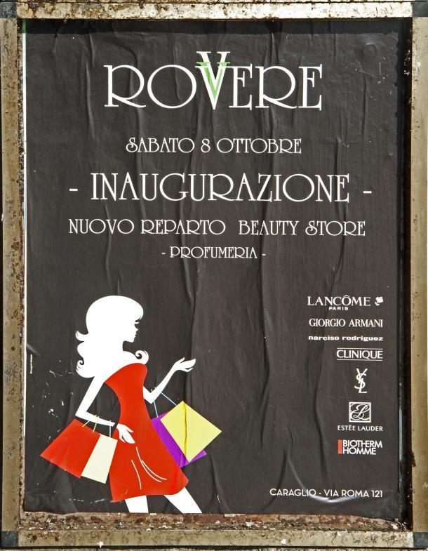 Plakat zur Eröffnung eines Beauty-Shops