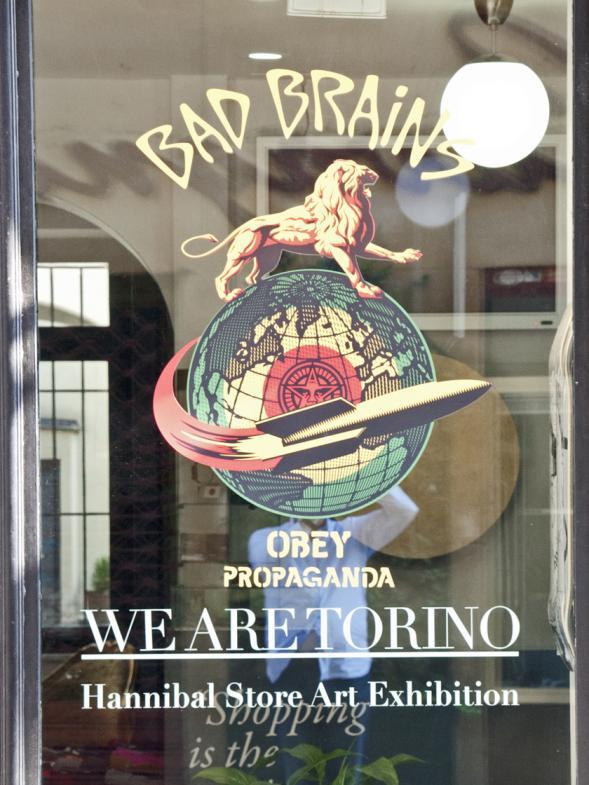 """Schild einer Galerie - """"Bad Brains"""""""