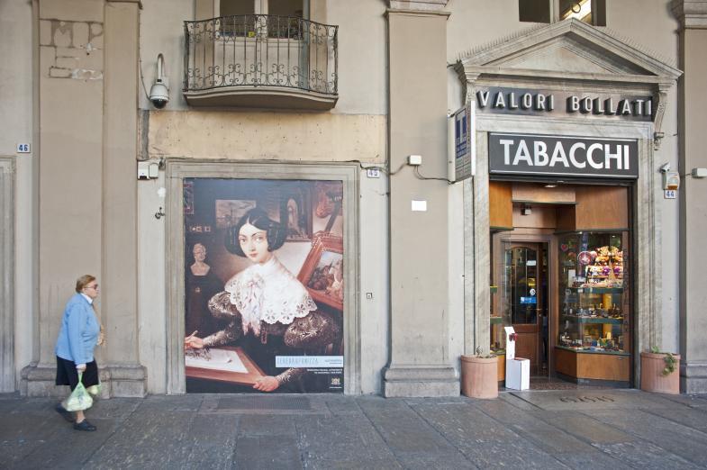 Ein Tabakgeschäft in Turin