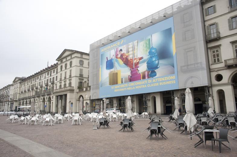 XXL-Plakat in Turin