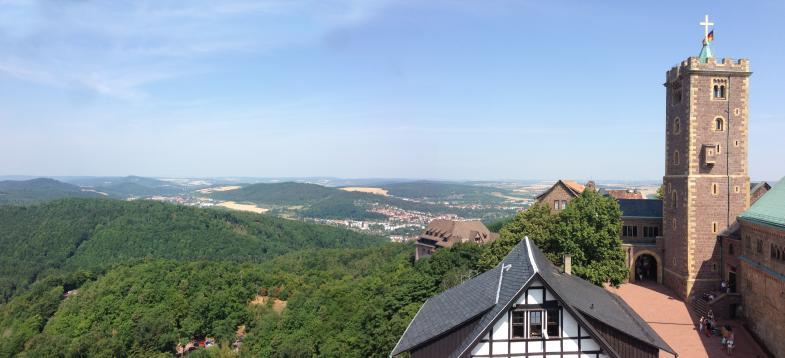 Panoramablick über die Wartburg