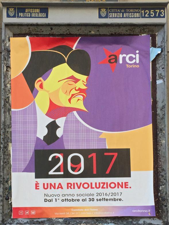 Politisches Plakat: 100 Jahre Russische Revolution